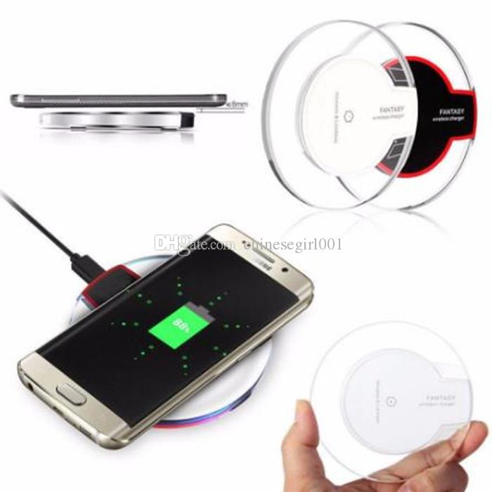 Pad universale in cristallo caricabatterie wireless Qi con luce a LED Samsung Galaxy S6 S7 S8 S8 PLUS Iphone 6/7 Pad rotondo