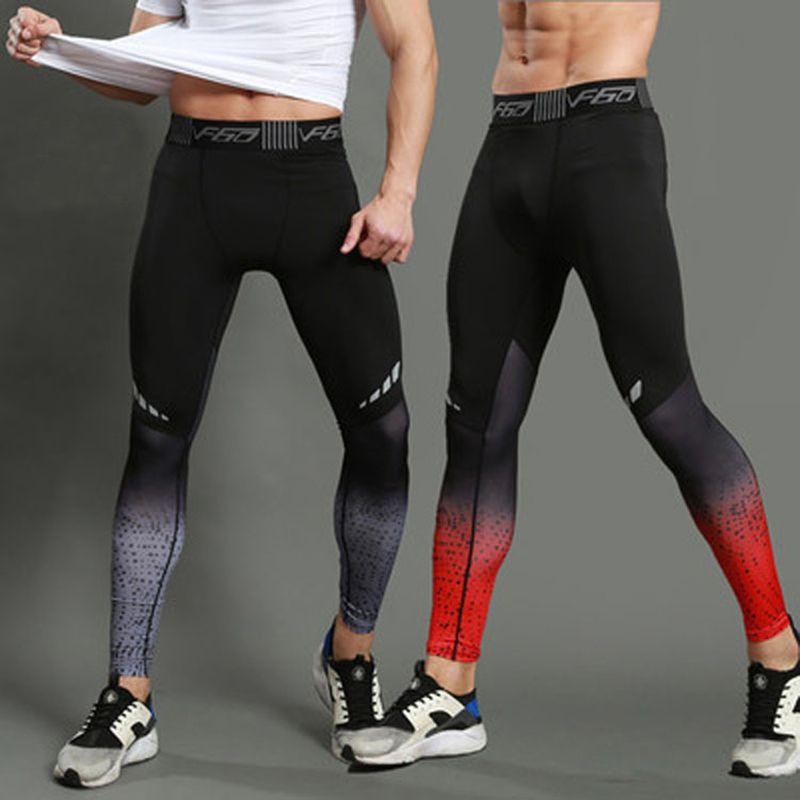 Laufstrumpfhosen Laufhose Männer Sport Leggings Sportswear Yoga Hosen Hosen Quick Dry Atmungsaktive Elastische Leggings