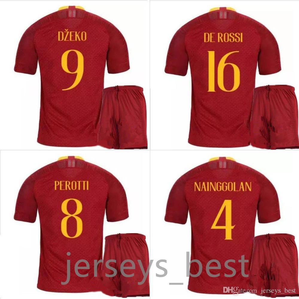 88ea57f4c New 18 19 ROME Home Away Soccer TOTTI ROMA DZEKO Sports DE ROSSI ...