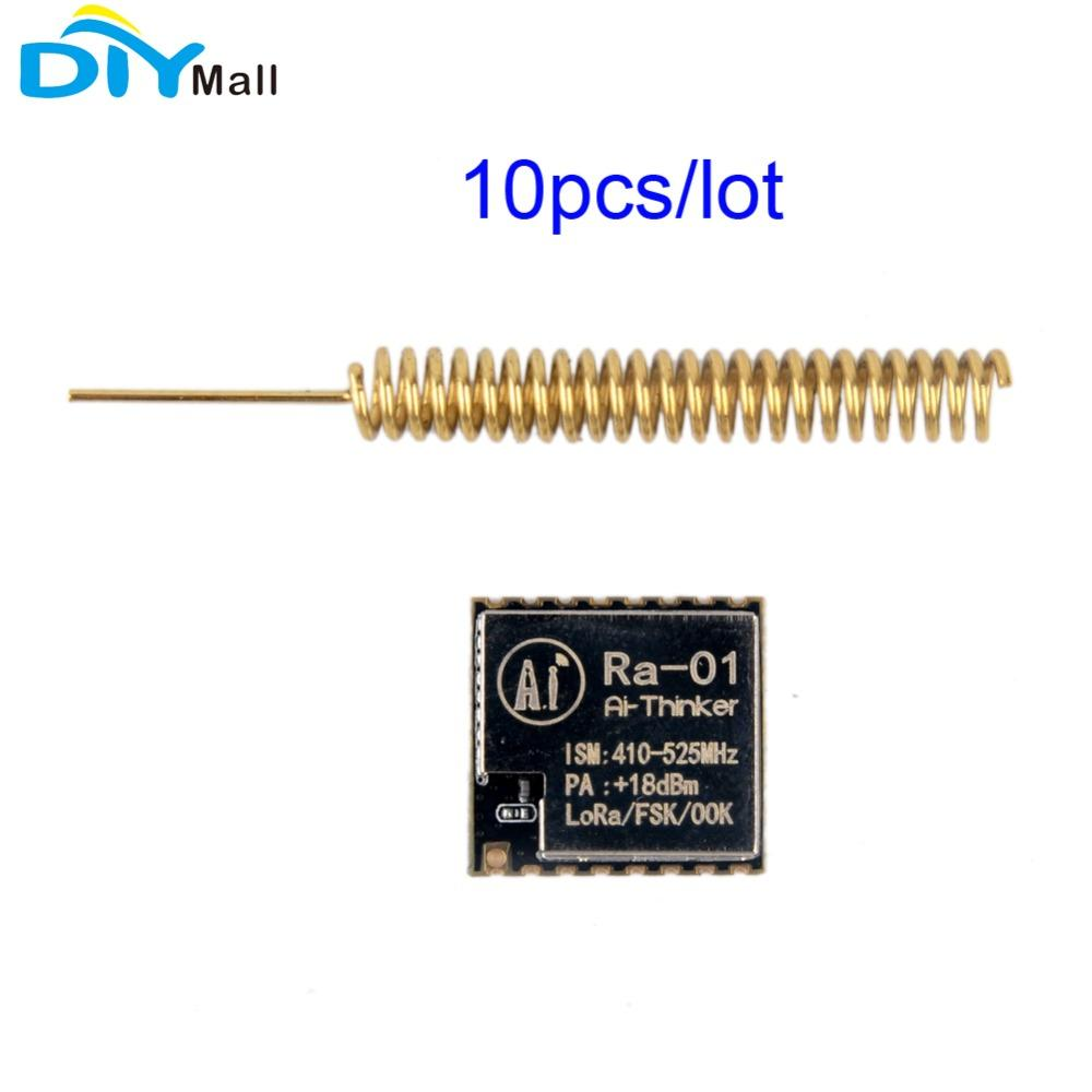 10pcs/lot LoRa Ra-01 SX1278 433M WiFi Wireless Transceiver Module Antenna  for Arduino