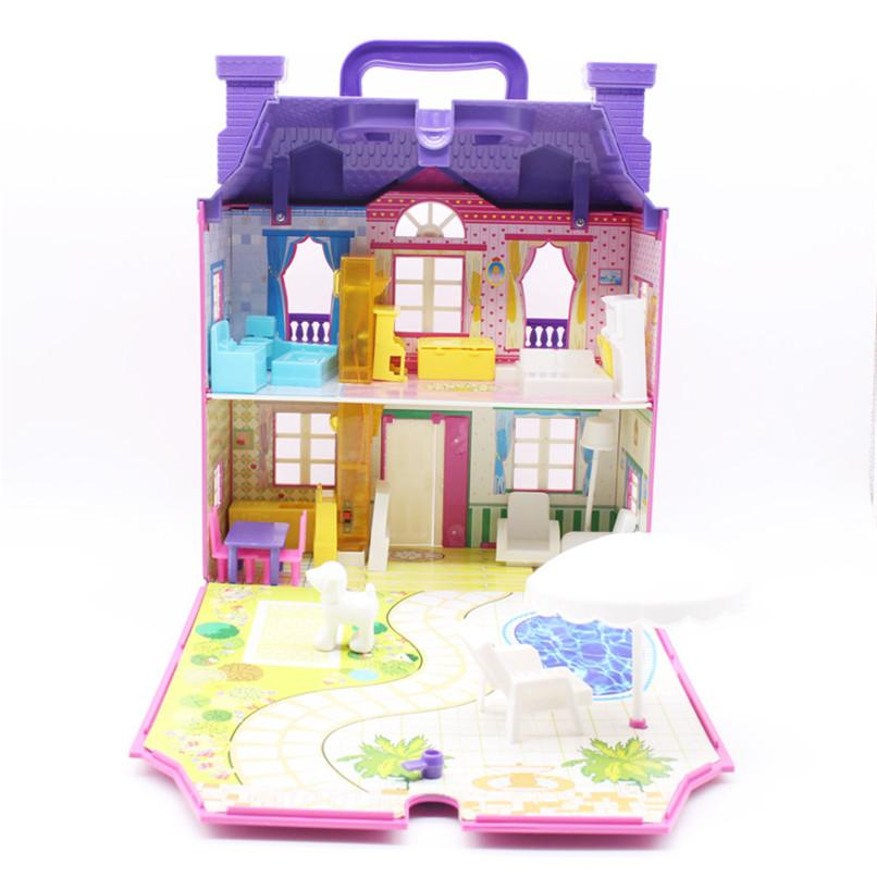3D DIY Doll House LED With Lightsu0026Music Miniature Dollhouse Furniture Cute  Room ABS Miniaturas Accessories Castle Toy For Kids Collectors Dolls Houses  For ...