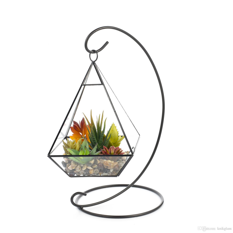 Fine Succulent Gift Centerpiece For Table Vase Copper Geometric