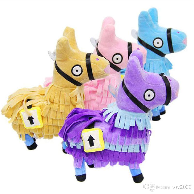 4 Color 25CM(10inch) Fortnite plush dolls Stash Llama Figure Soft Stuffed Horse Animal Cartoon Toys Action Figure Toys Kids toys Gift