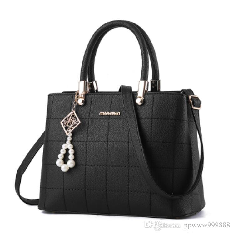 ca22b22771 NEW Women Bag Pu Leather Tote Brand Name Bag Ladies Handbag Lady Evening Bags  Solid Female Messenger Bags Travel Fashion W306 Leather Purses Cheap  Designer ...