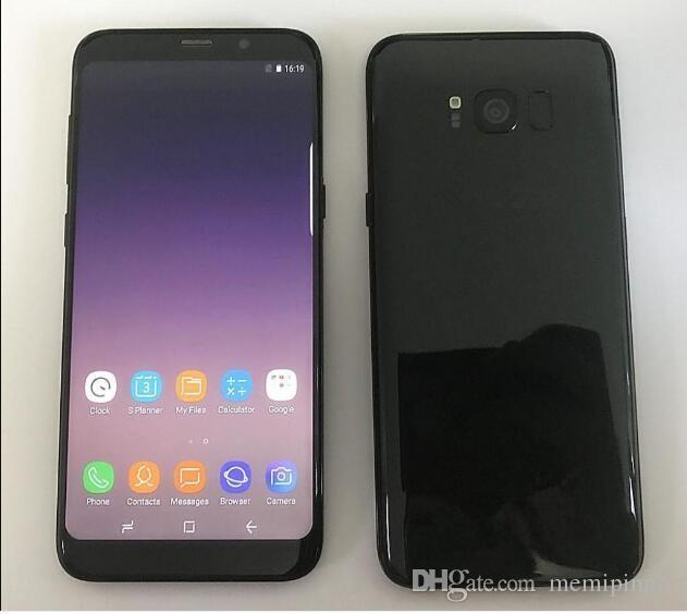 Goophone S8 S8+ S8 Plus Real Fingerprints Dual sim Octa Core 6.2 inch 1440*720 QHD Android 7.0 12.0MP Camera GPS WiFi Smart Phone