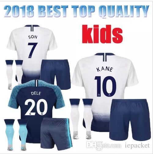 e2584de2e KIDS KIT 2018 2019 Tottenhames Home Away Soccer Jersey KANE DELE ...