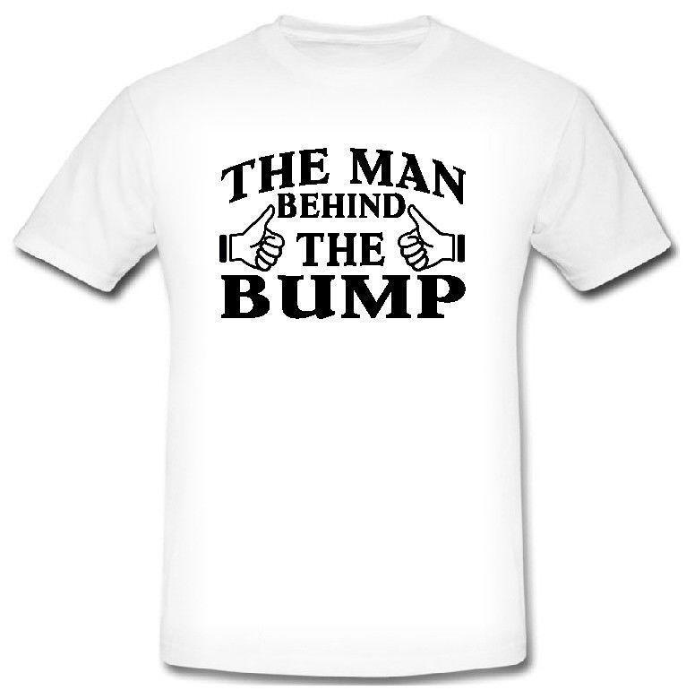 375de7821 THE MAN BEHIND THE BUMP PREGNANT PREGNANCY T SHIRT FUNNY BABY SHOWER GIFT  Online Shirts T Shirt Design Online From Zhangjingxin21, $15.7| DHgate.Com
