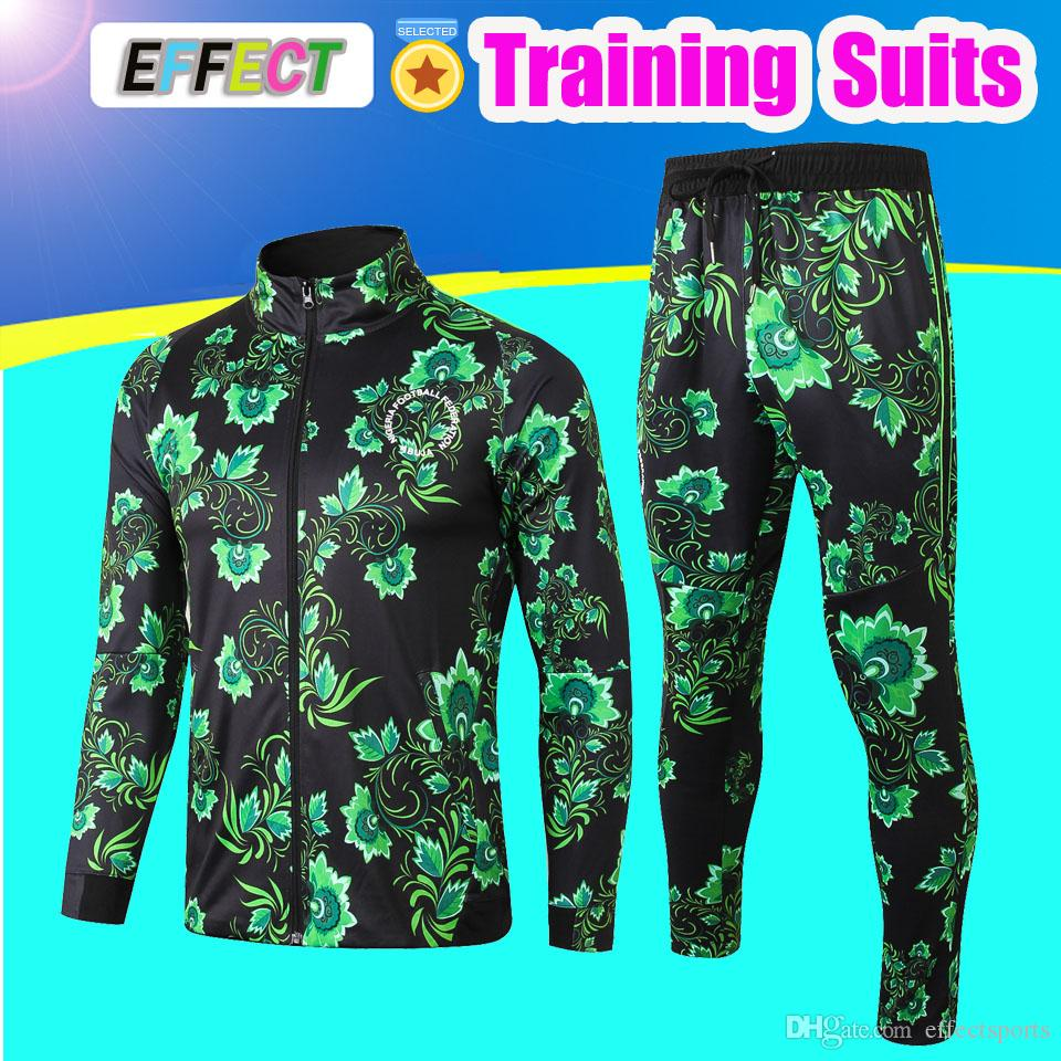 2019 Uniform Kits Jacket Sleeve Nigeria 1819 Survetement Pants IWOBI Chandal Suits 2018 Set Nigeria From Effectsports Training Long Tracksuit Men TqRTrxX