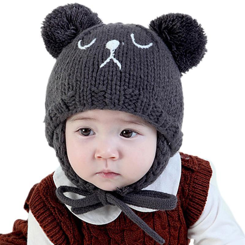 Acquista Cappelli Caldi Di Inverno Del Bambino Cappelli Del Bambino Dei  Bambini Cappucci Di Lana Spesso Spessi Cappelli Di Ragazza Beanie Animale  Carino ... ce0b90a25426