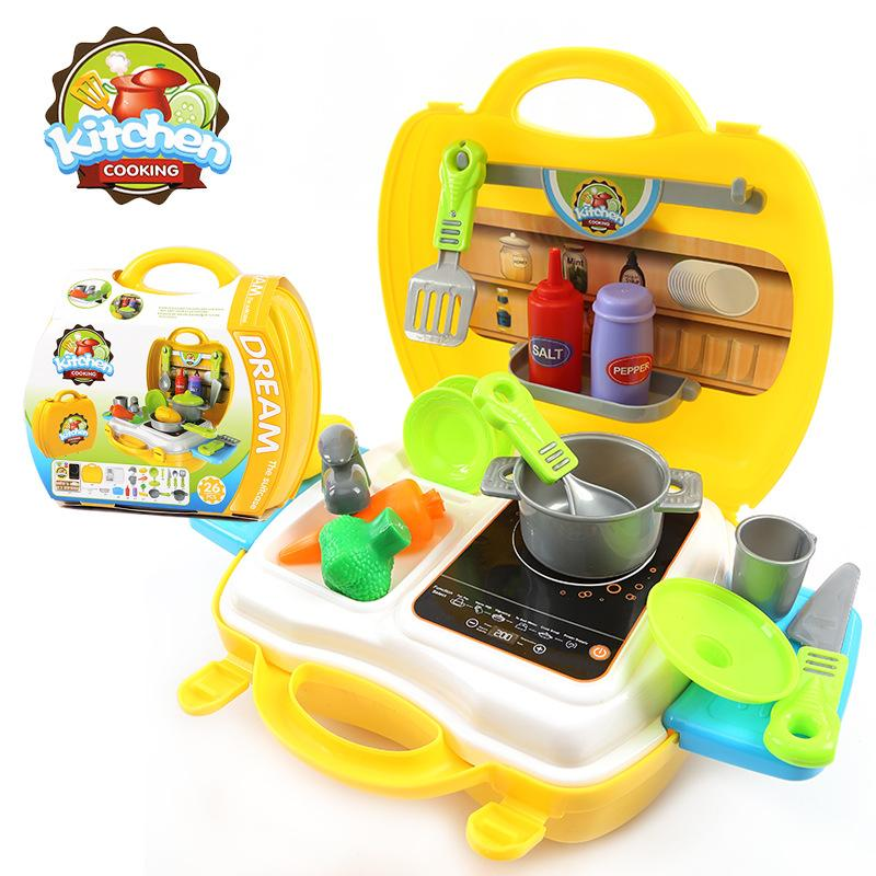 Various Styles Pretend Play Meal Kitchen Cash Register Tools Suitcase Toys Simulation Tool Boys And Girls Role-Playing