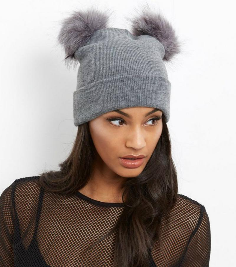 2019 Hot Women Double Faux Fur Pom Pom Beanie Hat Winter Knitted Curling  Warm Wool Cap Double Wool Ball Cap Imitation Fox Fur Ball Cap From  Heybaby0921 f9a00c6cdd6
