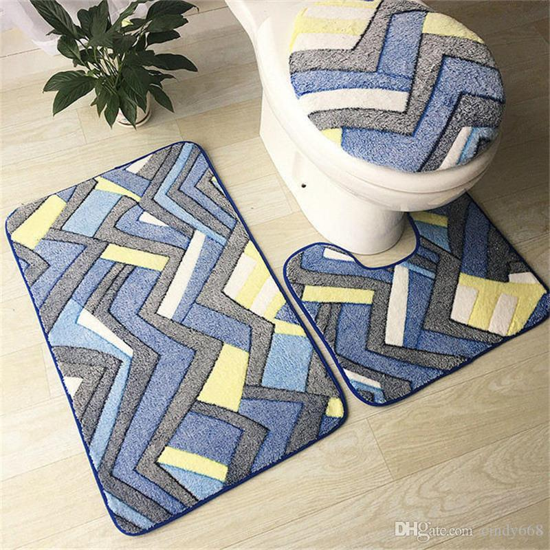 Rug For Bathroom Set Bathroom Wc Mat Toilet Water Absorption Anti