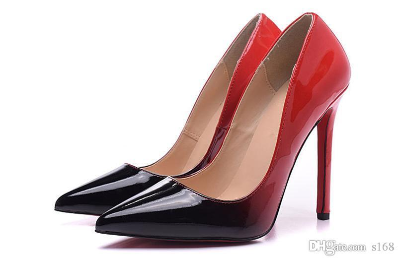 c920e45941e The Black Red Color Red Bottom High Heels Women Shoes 12cm High Heel Ladies  Female Shoes Low Footwear Pumps Sneakers