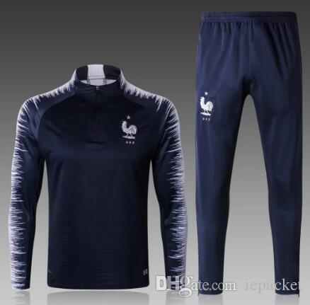 de85662d8 2019 New 2018/19 French Sport Suit French Football Teams Countries  Survetement Royal Blue Pogba GRIEZMANN Football Training For Clothing From  Iepacket, ...