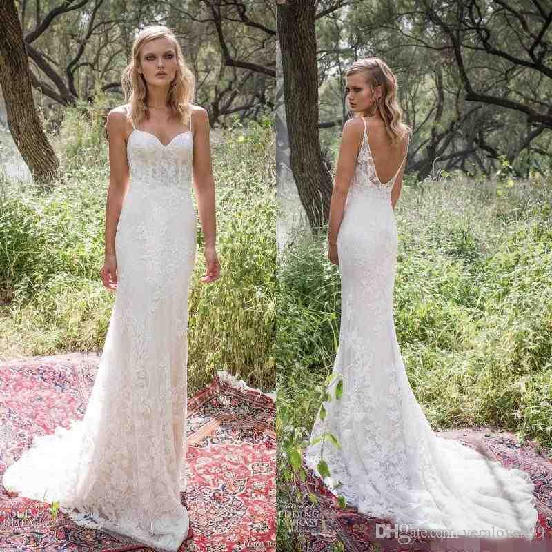 c1f84dc0c6 Limor Rosen 2017 Sexy Mermaid Wedding Dresses Spaghetti Straps Backless  Country Style Full Length Lace Corset Wedding Dress Dresses Wedding Halter  Neck ...