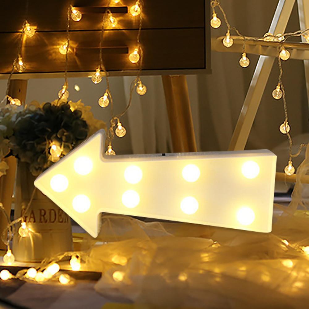 2018 Alphabet Led Letter Lights Light Up White Plastic Letters ...