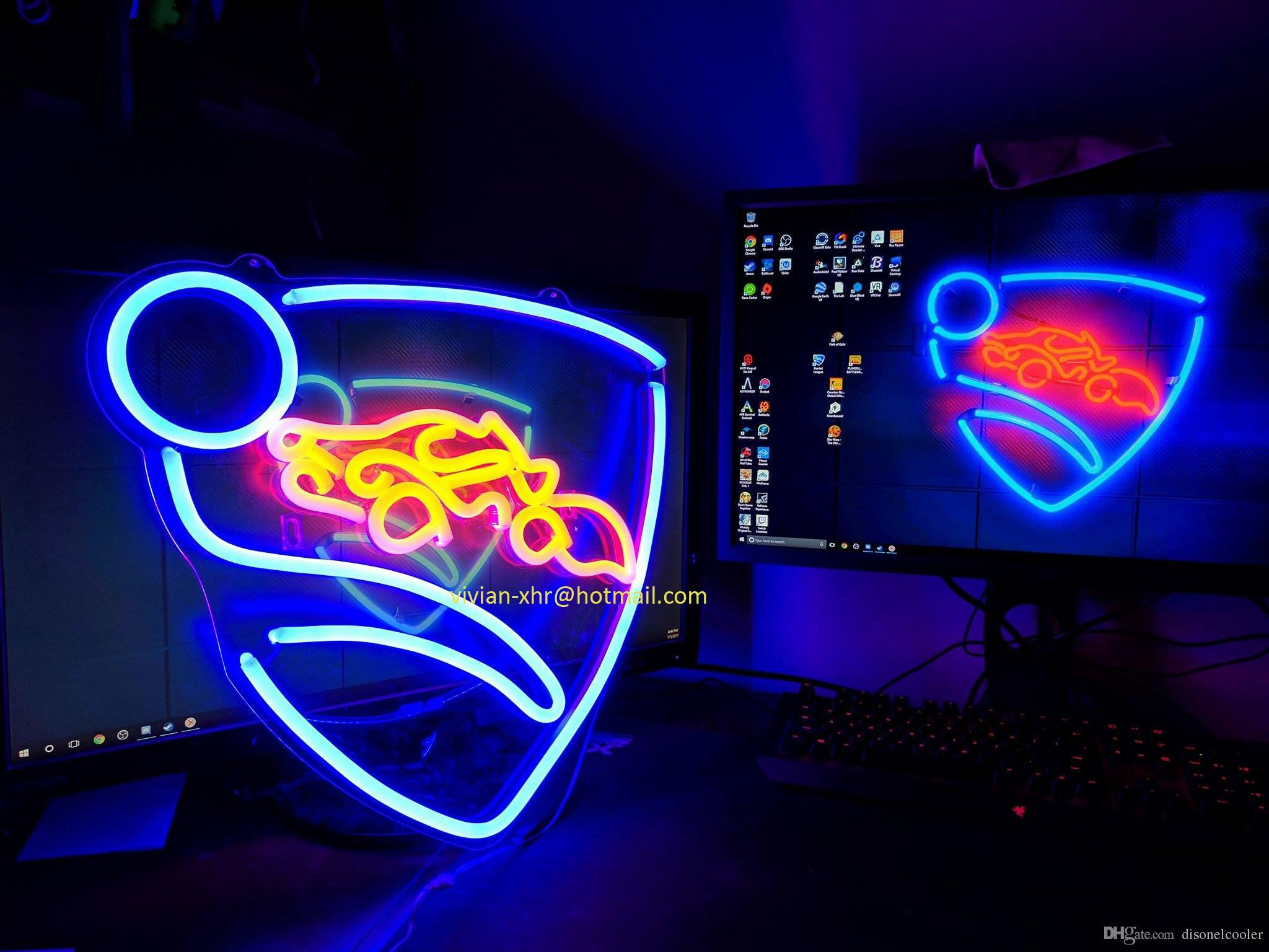 Cheap LED Flex Portable Custom Neon Lighting Sign Rocket League Logo Big Neon Glow Lamp Tube Sign Strip for Rooms