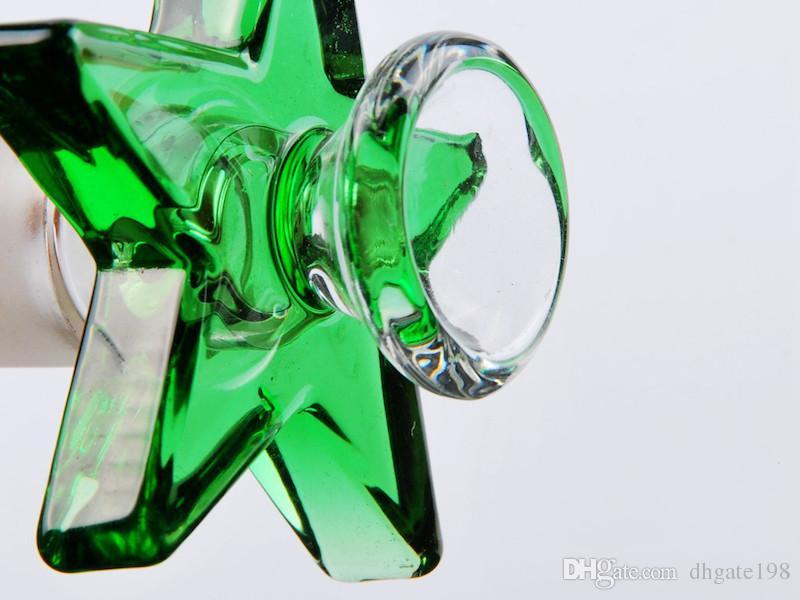 Dicke Pyrex Glasschale Neuestes Design 14mm 18mm männliche Schraube Pentagram Tabak Räucherschale zum Räuchern von Glas Wasser Bongs