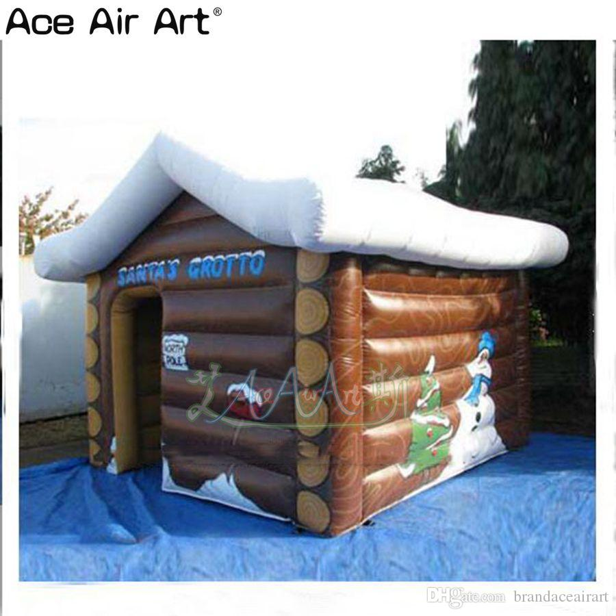 15x15 ft Christmas house, inflatable Xmas santa grotto with complete digital printing from ace air art
