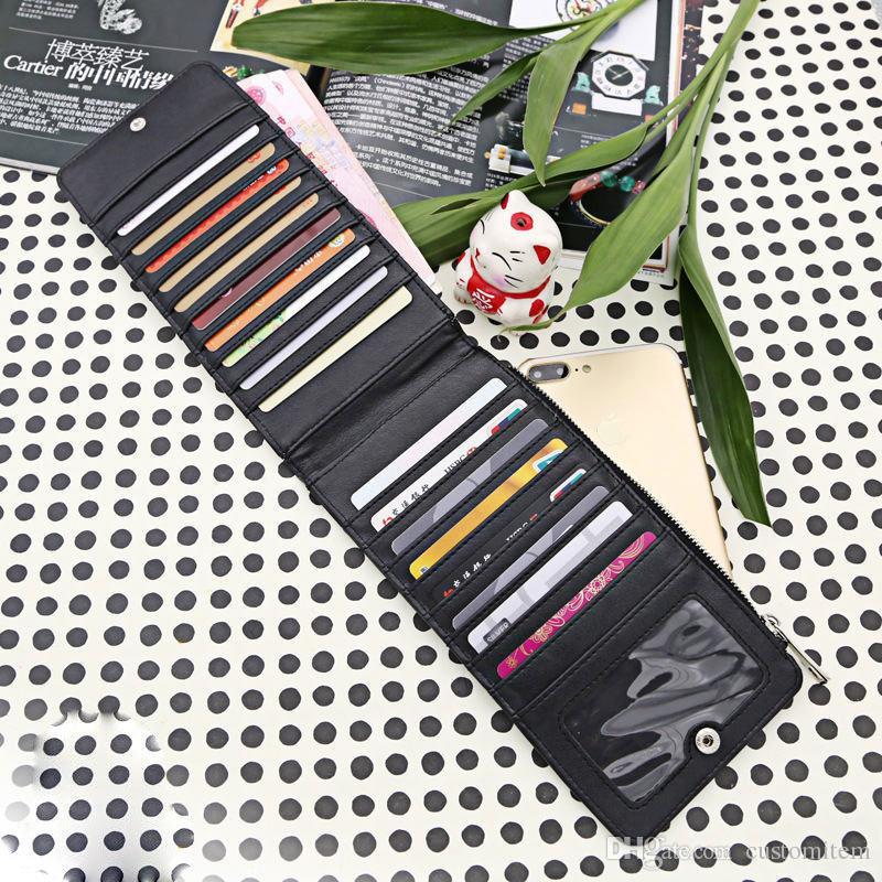 portafogli vuoti porta tessere sublimazione stampa a trasferimento termico borsa lunga nera consumabili da uomo