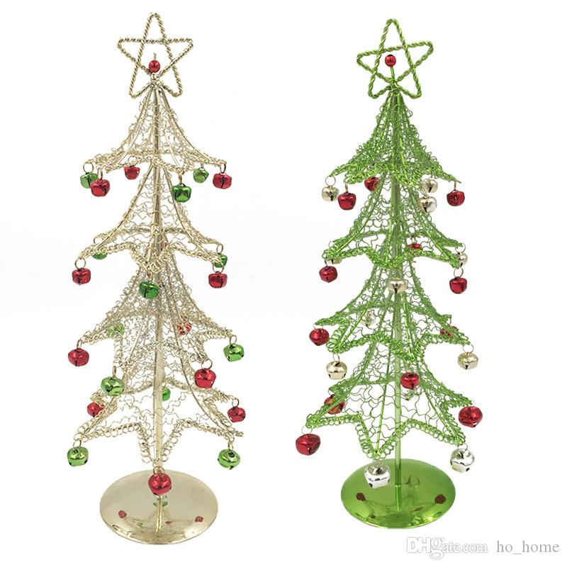 2018 new metal christmas tree with bell christmas gifts desk ornaments decorations from ho_home 1022 dhgatecom - Metal Christmas Ornaments