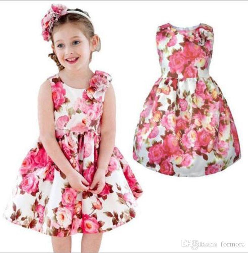 Compre Baby Girls Tutu Vestido De Algodón Chaleco Niños Sundress ...