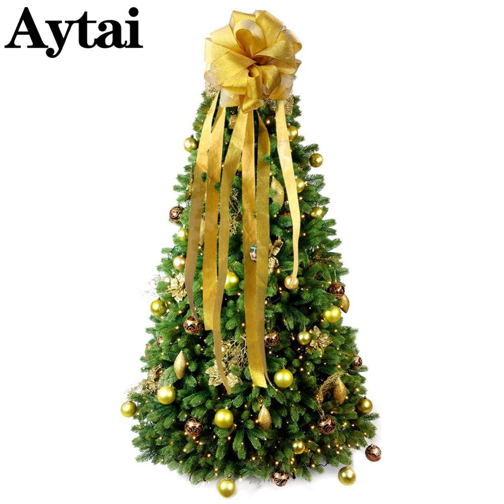 Wholesale Big Size Christmas Bow Tree Topper With Streamers Modern