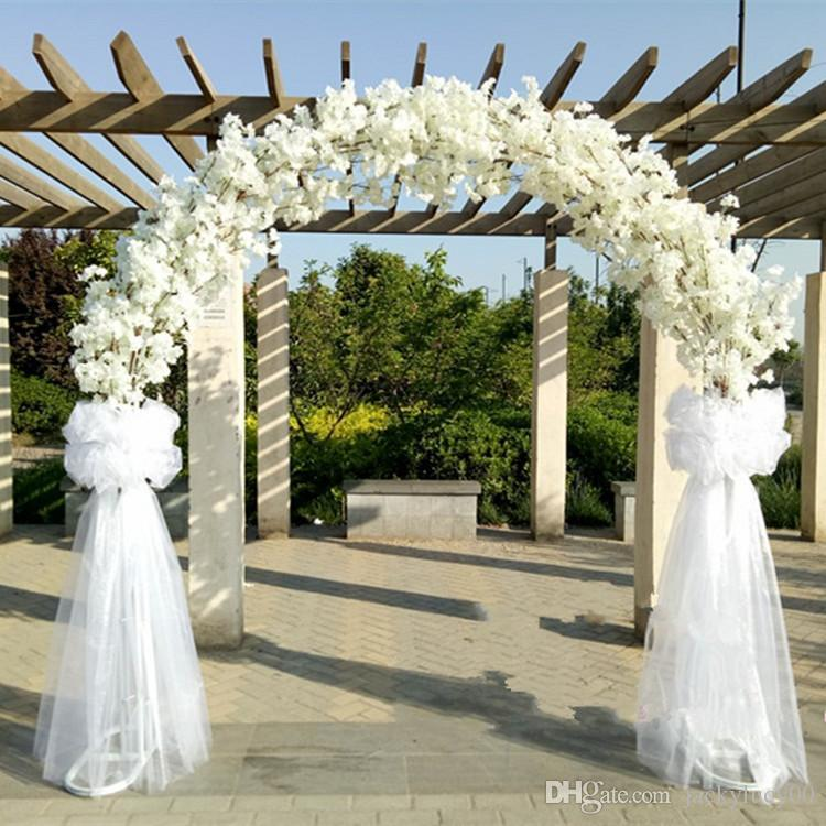 Wedding Centerpieces Metal Frame With Cherry Blossoms Chiffon Set
