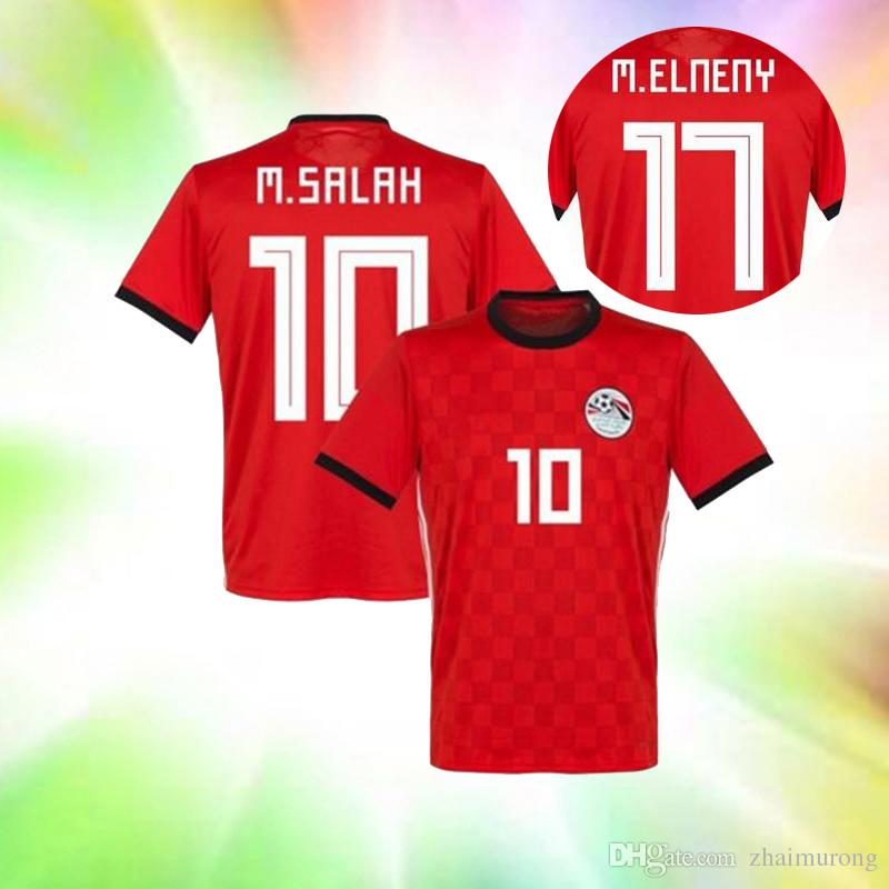 2018 Egypt World Cup Soccer Jersey Egypt Home Red 10 M.SALAH Soccer ... 6678dbc85