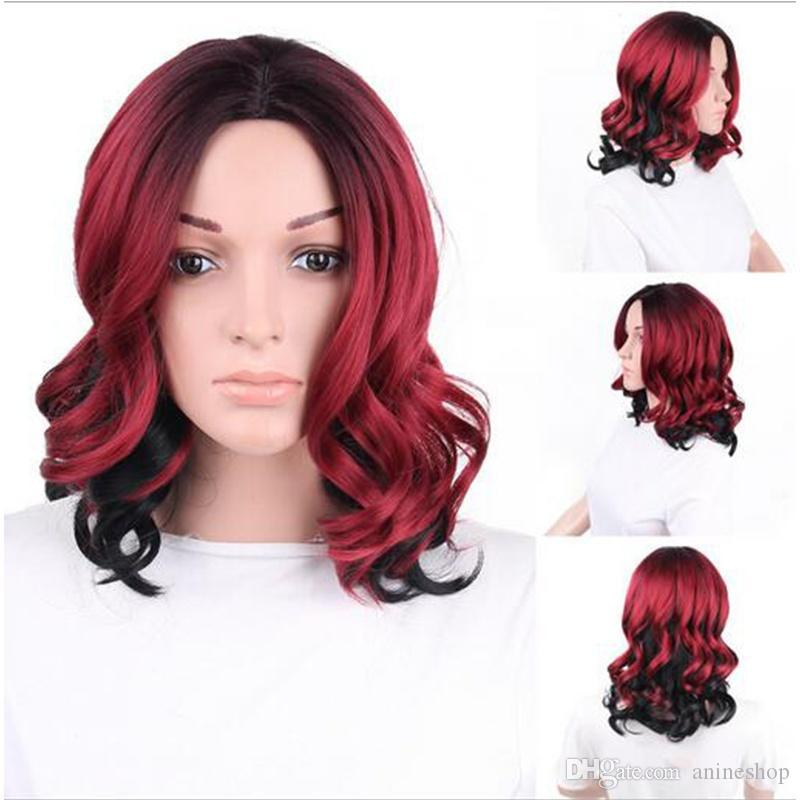 Medium Long Ombre Heat Resistant Wig Women S Hair Accessories Middle Party  Hair Synthetic Wigs On Sale Long Blonde Wig Hairpieces And Wigs From  Anineshop 7251c9037