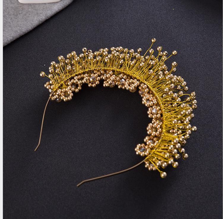 Pembe saçlı saçlı saç inci Takı Düğün çiçekleri çiçek gelin