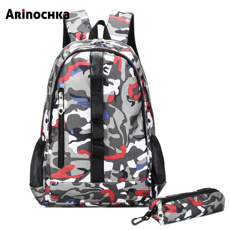 9190b95719 Camouflage Junior High School Bags For Teenagers Unisex Backpack Children Large  Travel Shoulder Bag Rucksack Escolar Bags For Girls Girls Backpacks From ...