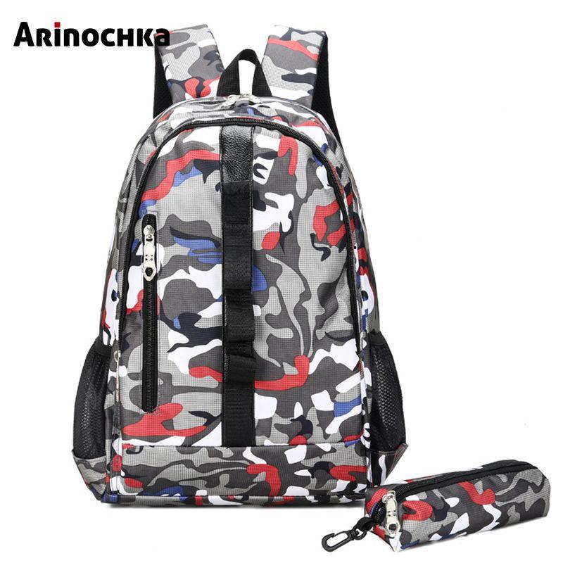 87c8de1b5 Camuflaje Junior High School Bolsas para adolescentes Mochila unisex Niños  Bolsa de viaje grande Mochila Escolar