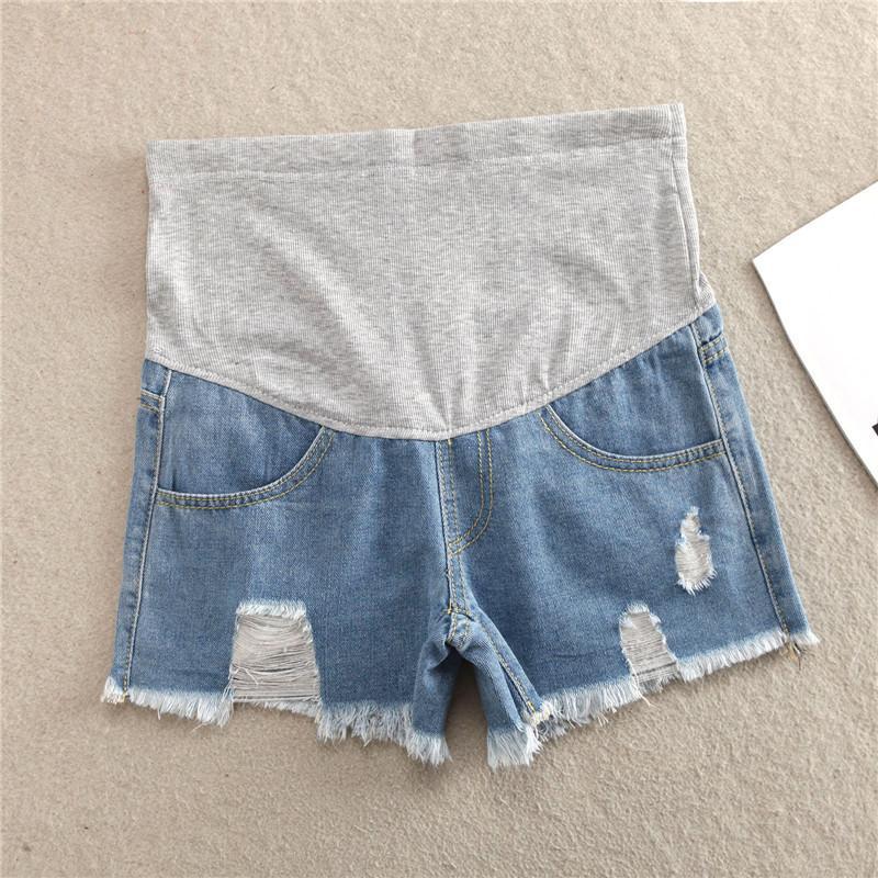 4cec739d2 Compre Pantalones Cortos De Maternidad Pantalones Cortos De Verano Para  Mujeres Embarazadas Ropa De Talla Grande Ropa De Embarazo Pantalones Cortos  Belly ...