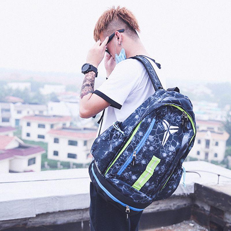 2019 KOBE Backpack Boy S Sports Travel Shoulders Bags School Book Bag  Teenager Girl S Children Outdoor Basketball Backpacks Marque Mochila From  ... 509760906c