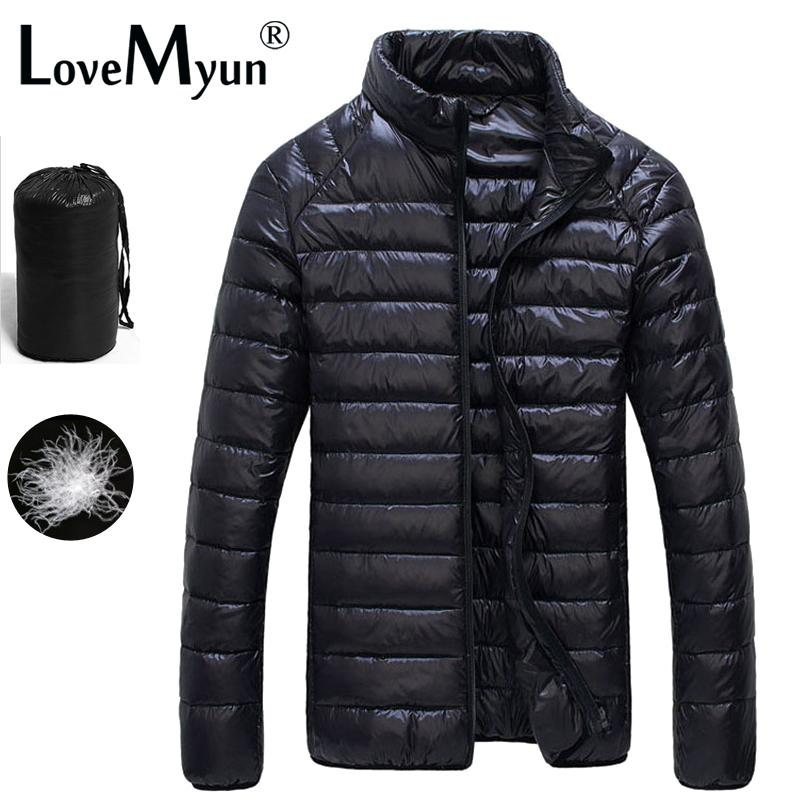 9045d09d3bf 2019 2018 Autumn Winter Puffer Duck Down Jacket Ultra Light Men 90% Coat  Waterproof Down Parkas Fashion Mens Collar Outerwear Coat Y181101 From  Zhengrui04, ...
