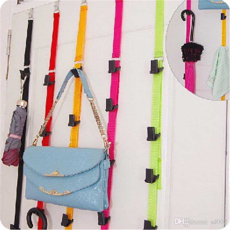 Door Back Umbrella Storage Rack Baseball Cap Bag Holder Organizer Multi Color Space Saving Magic Clothe Hanger Adjustable 3 8bm C R