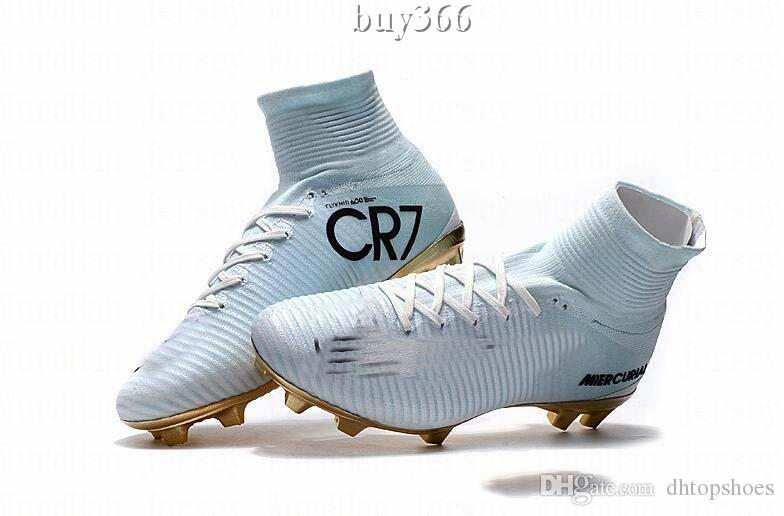 4f3355f8dd490 Compre Top Mercurial Cr7 Superfly V Fg Mens Crianças Sapatos De Futebol  Magista Obra 2 Meninos Botas De Futebol Mulheres Chuteiras De Futebol Da  Juventude ...
