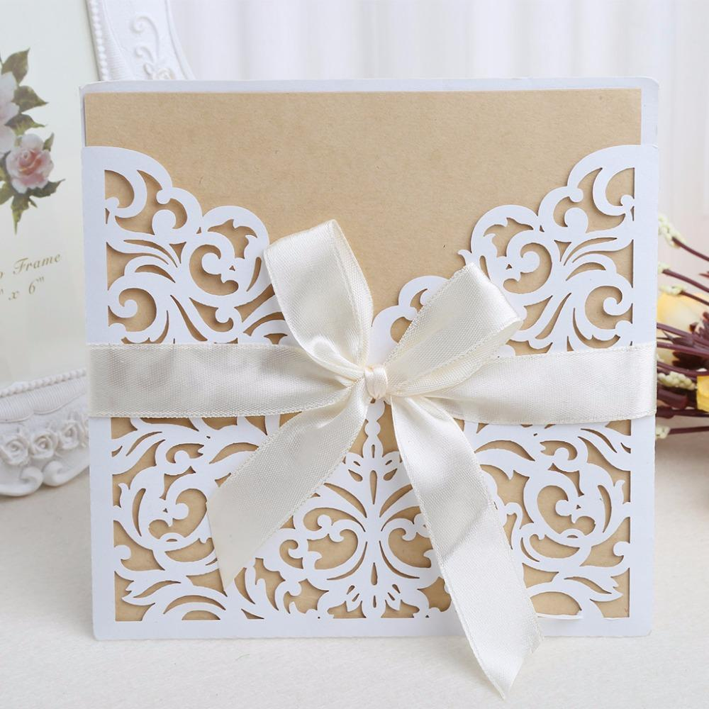 Wedding Invitation Cards Decorations Kit With Envelopes Seals ...