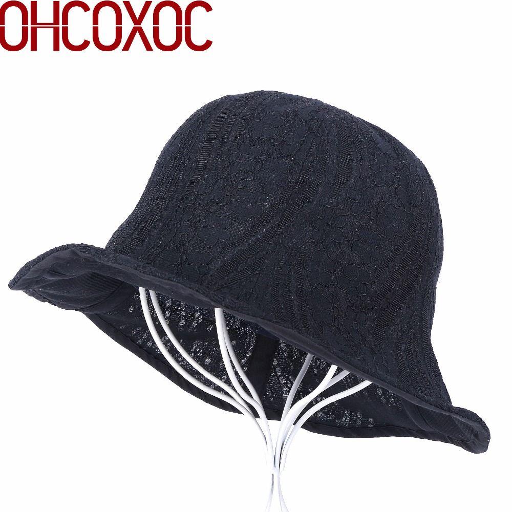 b5a8ba37 Female Women New Bucket Hats Leisure Cap Lace Design Sexy Style ...