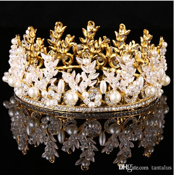 Gold or Silver Princess Queen Metallic Plated Tiara W// Jewels Costume Accessory