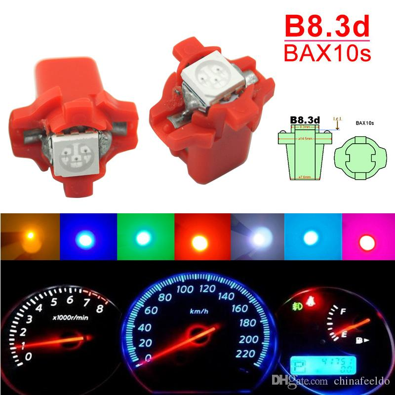 10pcs Red T5 12V LED Car Wedge Dashboard Gauge Light Lamp Bulb TK