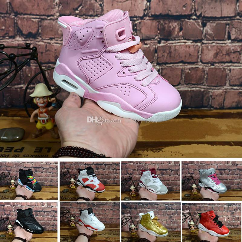 separation shoes ba207 7d078 Großhandel Nike Air Jordan 6 12 13 Retro Freies Verschiffen 2018 Kinder  Klassische 6 S UNC Schwarz Blau Weiß Infrarot Niedrigen Chrom Basketball Schuhe  6 ...