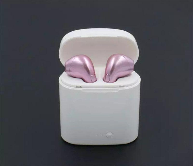 I7 I7S TWS Gêmeos Bluetooth Fones De Ouvido Fones De Ouvido Mini Fone de Ouvido Sem Fio com Microfone V4.2 Estéreo Fone De Ouvido para Iphone Android com Pacote de varejo