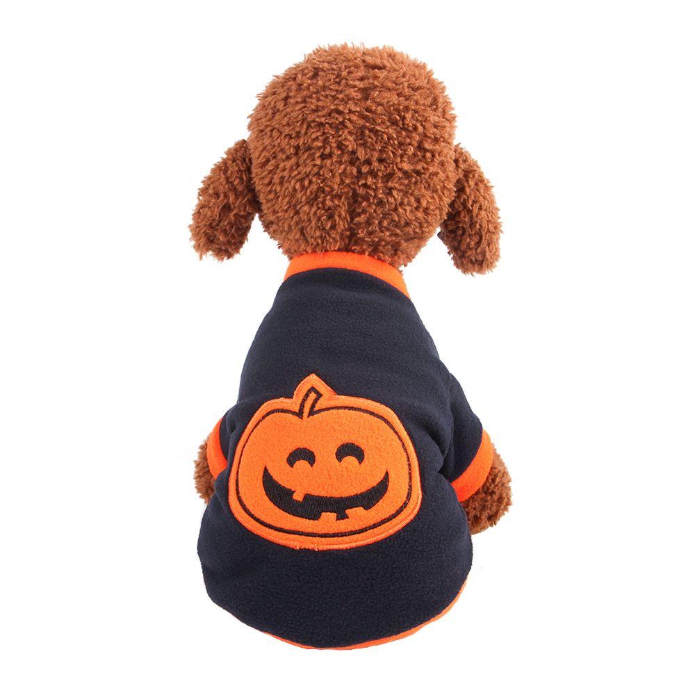 8ac2cdba07f0d Собака осень одежда флис пальто для Хэллоуин собака кошка пальто куртки  собака костюмы поставки Pet жилеты свитера рубашки Popurlar тыква свет