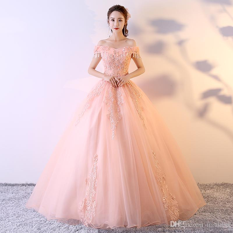 b80d608c863 Off the Shoulder Sweet 16 Quinceanera Dresses Ball Gown 2019 Lace ...