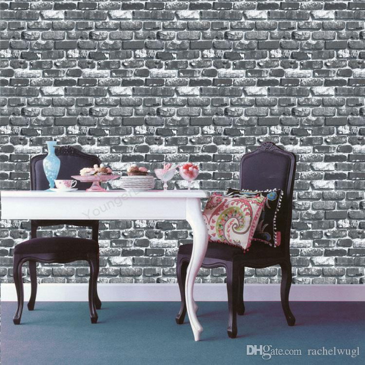 3D wallpaper effect Imitation Stone Brick PVC Wall Wallpaper Nature Emboss Stone Retro Background Roll Brick Wallpapers