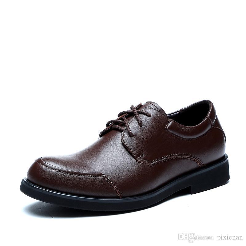 Großhandel Männer Oxford Kleid Aus Echtem Leder Freizeitschuhe Männliche  Arbeit Sicherheit Leder Schuhe Atmungsaktive Wohnungen Schuhe Lace Up Schuhe  Runde ... 38d84dabde