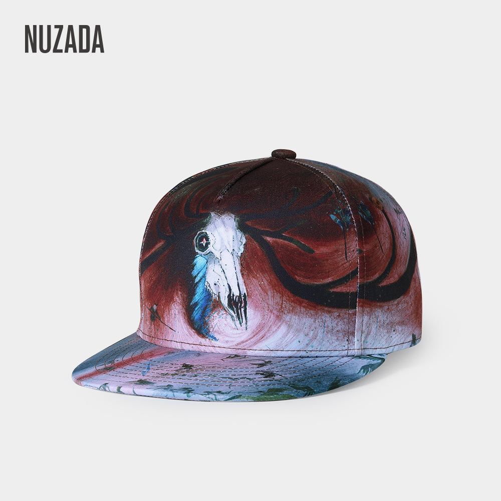 Compre Marca NUZADA Diseño Original Impresión 3D Hombres Mujeres Pareja  Gorra De Béisbol Primavera Verano Otoño Sombreros Calidad Bone Snapback Caps  A ... 3e85c394c07