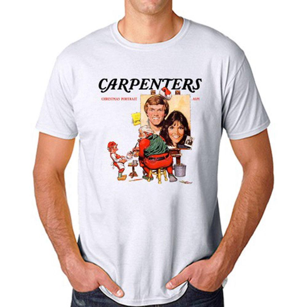 Carpenters Christmas Portrait.Carpenters Christmas Portrait Album Men S White T Shirt Size S M L Xl 2xl 3xl 2018 Funny Tee Casual Male Tshirt Free Shipping Tees
